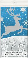Silver Snowflake Christmas Plastic Table Cover